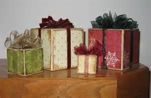 Christmas Present Wood Blocks