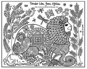 Free Printable African Lion Art Coloring Page Africa For