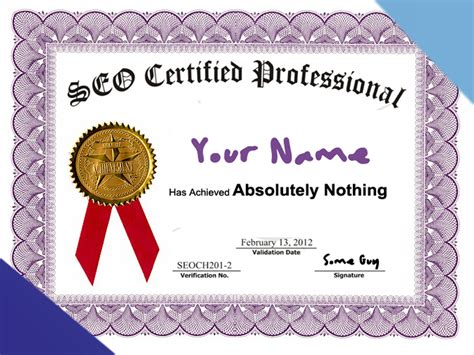 Seo Certification by Do Seo Certifications Even Matter Sycosure