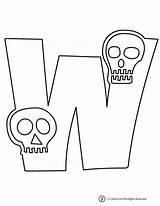 Letters Halloween Skeleton Bubble Letter Printable Print Jr Activities Woo Printables Whole sketch template