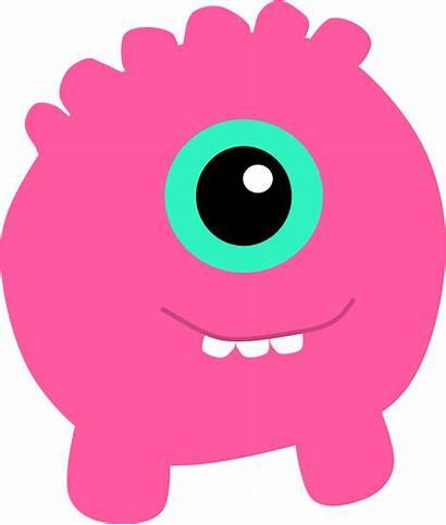 Monster Clipart Pink Alien Transparent Cliparts Cyclops