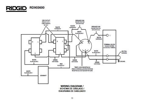ridgid generator wiring diagram trusted wiring diagrams