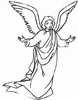 Angel Angels Coloring Pages Gabriel Christmas Awesome Printable Drawing Line Clipart Guardian Mary Colouring Preschool Colors Sheets Getcolorings Getdrawings Mesmerizing sketch template