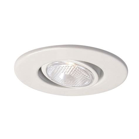 Halo Lighting 4in Gloss White Gimbal Recessed Lighting