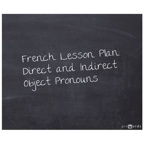teaching on direct and indirect object pronouns in
