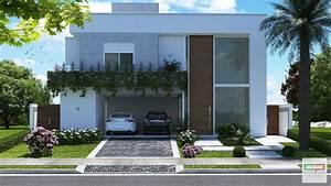 Casa Alphaville Sobrado Alto Padrao Frente Moderna Telhado Escondido Terreno Com 15x30