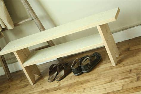 banc de cuisine en bois banc en bois esprit cabane idees creatives et ecologiques