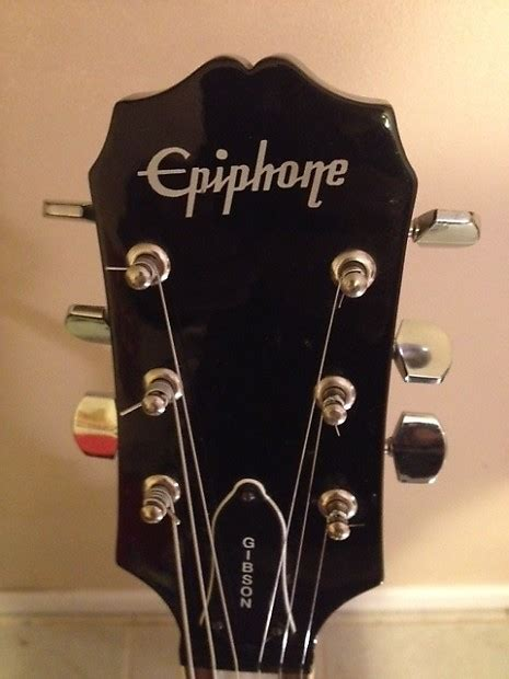 epiphone les paul custom black with gibson 50s wiring reverb