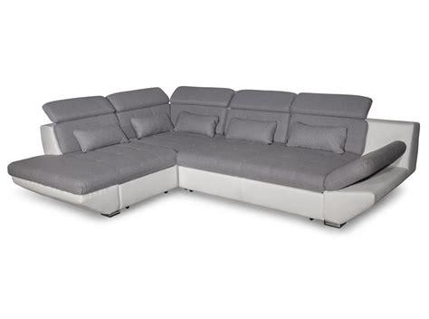 canapé convertible avec tiroir bi matière gris clair