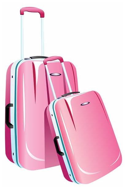 Travel Clipart Pink Bags Clip Luggage Suitcase