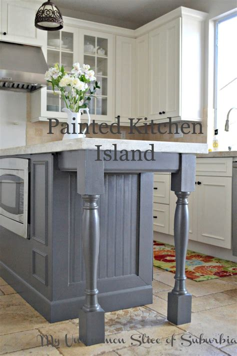 painted kitchen island painted kitchen island