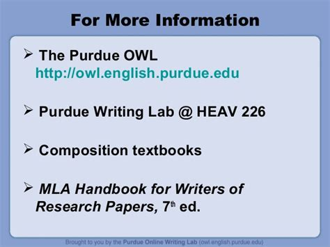 Purdue Owl Resume Powerpoint by 100 Purdue Owl Purdue Owl Mla Style Guide Ppt The Purdue Owl Presents Avoiding Plagiarism