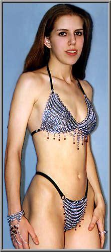 Amira chain-mail bikini top, Chainmail belly dance bikini