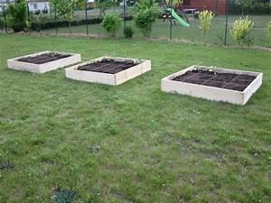 Jardin En Carré : cr ation du potager en carr s mon jardin mon potager ~ Premium-room.com Idées de Décoration