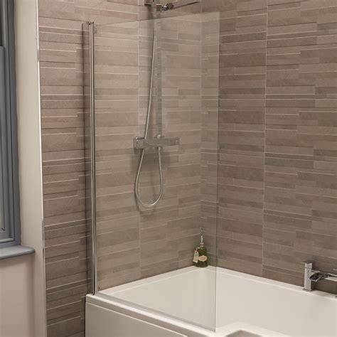 straight top mm straight hinged bath shower screen