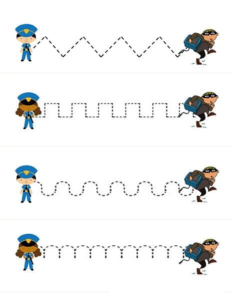 pre writing worksheets 1 171 preschool and homeschool 229   police pre writing worksheets 1