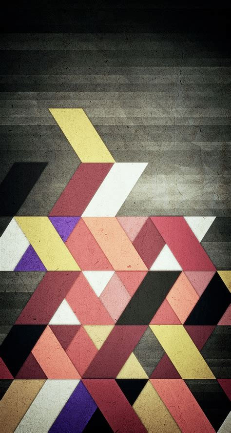 Abstract Geometric Shapes In by Abstract Shapes Geometric The Iphone Wallpapers