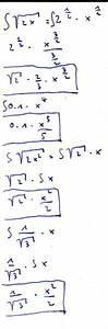 3 Wurzel Berechnen : integration integration einer funktion mit wurzel f x 2x mathelounge ~ Themetempest.com Abrechnung