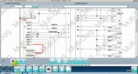 read vehicle wiring diagrams  multi diag  pass