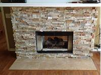 stone tile fireplace designs Installing fireplace tile surround can be messy, do it ...