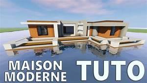 Maison En L Moderne : tuto maison moderne sur l 39 eau minecraft youtube ~ Melissatoandfro.com Idées de Décoration
