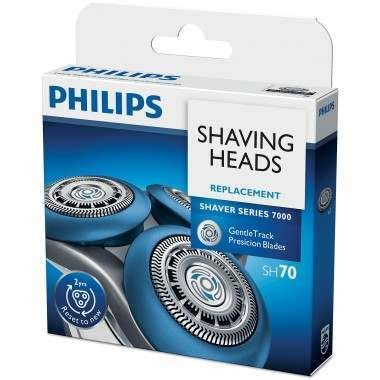 philips sh shaver series gentletrack precision blades triple