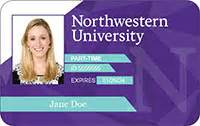 faculty id card template card types wildcard northwestern