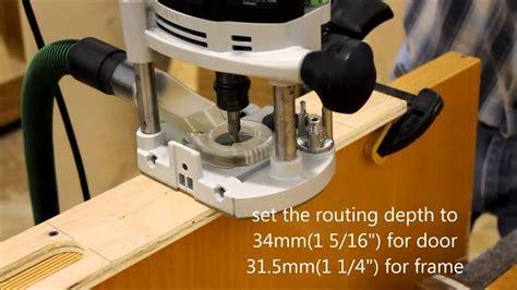 routing  concealed  adjustable tectus hinge youtube
