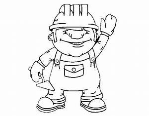 Construction Worker Coloring Page Coloringcrewcom