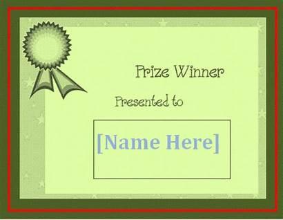Certificate Winner Template Templates Printable Word Wordstemplates