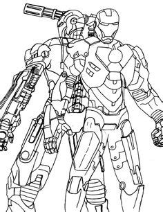 coloriage iron man super heros  dessins  colorier