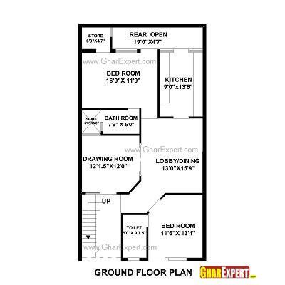 25by 50 plot size lay out plan house plan for 27 by 50 plot plot size 150 square yards house plan