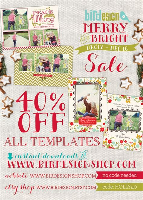 christmas huge template huge christmas sale at birdesign 40 off all templates www