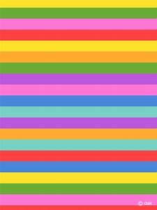 Colorful horizontal stripes Wallpaper
