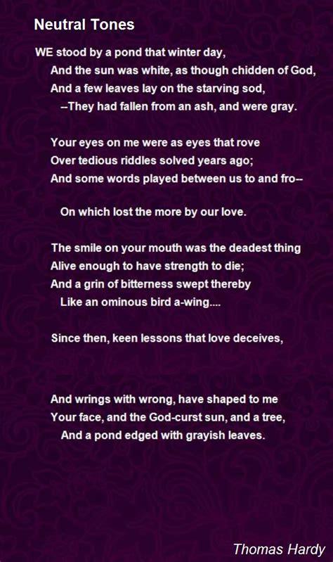 neutral tones poem  thomas hardy poem hunter