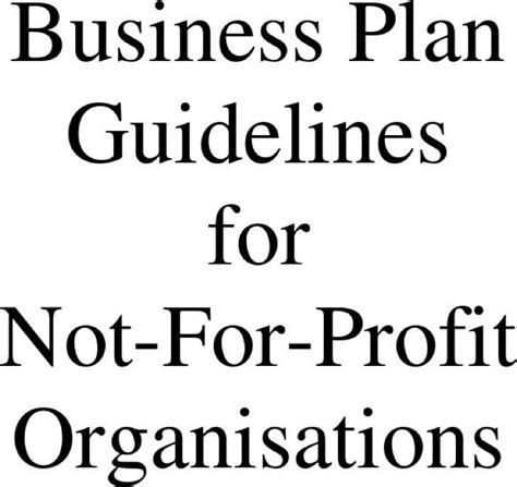 Business Plan For Non Profit Template Free by 20 Non Profit Business Plan Template Free Download