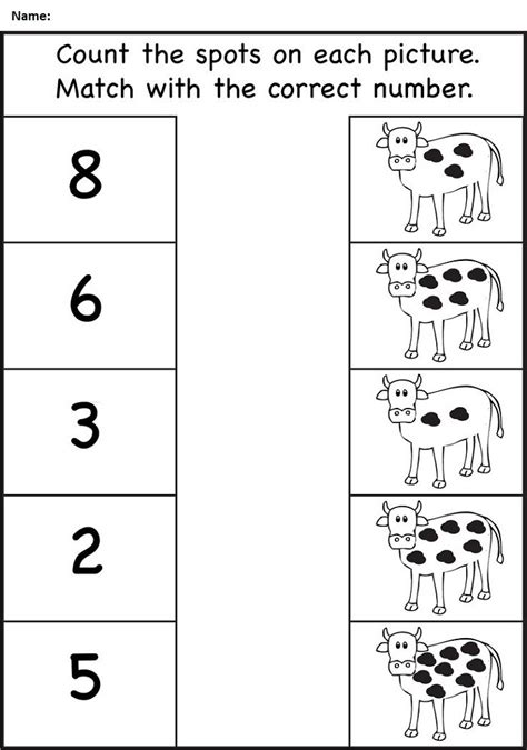count worksheet for nursery class learning printable