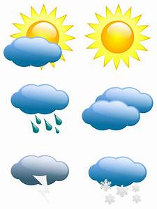 Weather Symbols Clipart - Clipart For Work