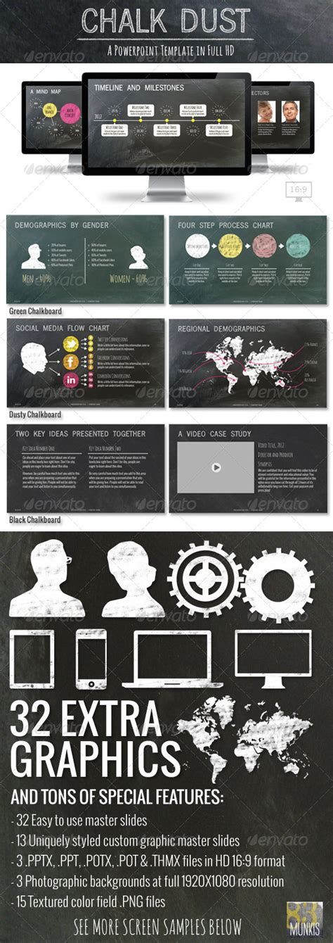 chalk dust powerpoint  template graphicriver