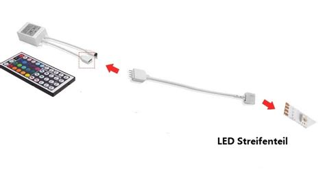 led streifen verbinden 12v led streifen rgb set dimmbar 5050 smd indirekte beleuchtung le
