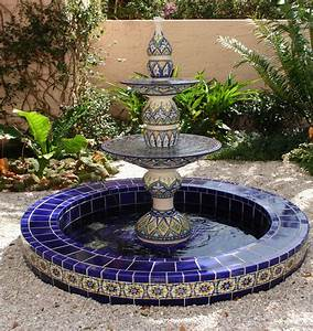 Ceramic Garden Fountain Tile   Outdoor Decorations