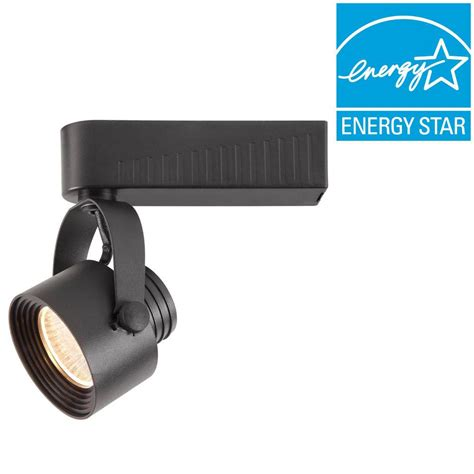 hton bay black dimmable led gimbal track lighting