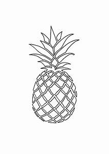 Black And White Pineapple Clipart | www.pixshark.com ...