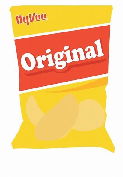 Chips Chip Clipart Bag Potato Transparent Cartoon