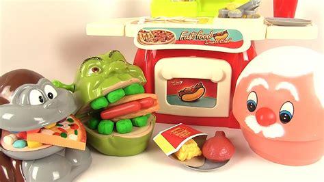 pate a modeler cuisine p 226 te 224 modeler play doh dentiste shrek mange du fast food avec le singe viyoutube