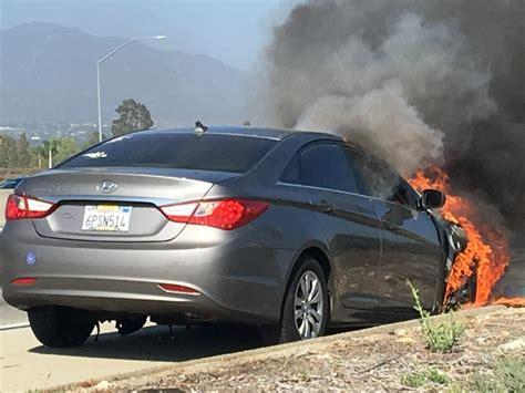 The front seat belts may detach from the anchor pretensioners. 2011 Hyundai Sonata Engine Fire: 1 Complaints