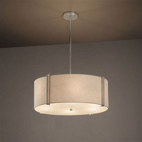 24 inch drum l shade for chandelier justice design group textile reveal brushed nickel 24 inch