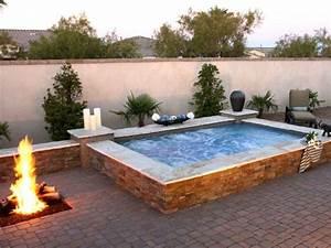 whirlpool mit feuerstelle auf der terrasse water in With feuerstelle garten mit whirlpool aufblasbar balkon