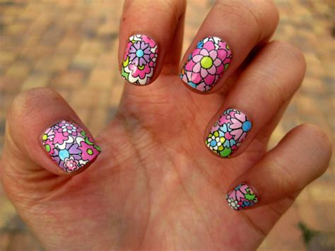 Colorful Flower Nail Art Pictures, Photos, And Images For