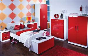Fabulous modern red bedroom furniture wooden floor arts design for Red bedroom furniture